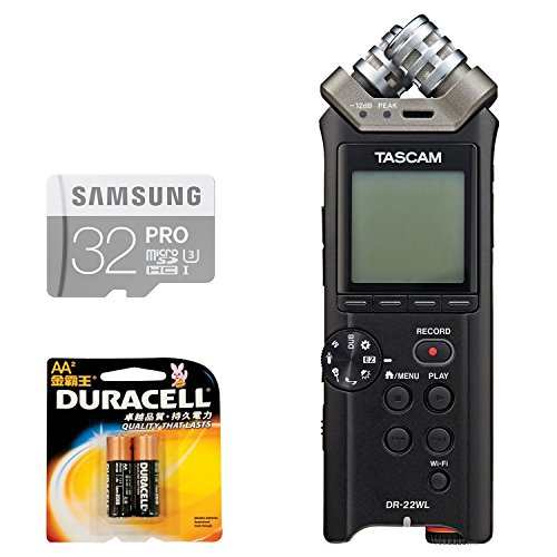 Tascam DR-22WL Portable Handheld Recorder with Wi-Fi,