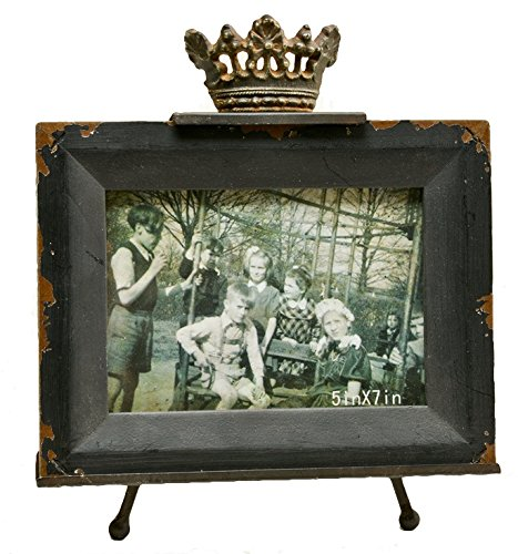 Caffco International Wood Picture Frame with Crown, 5 x -