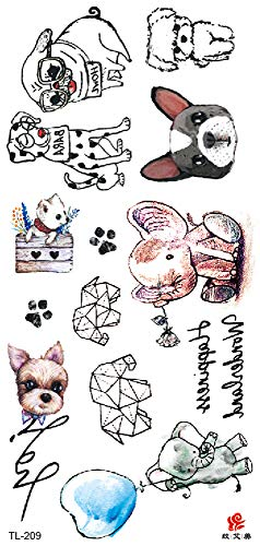 Bunny Dog Elephant Temporary Tattoo Unique Wholesale Ribs Lower