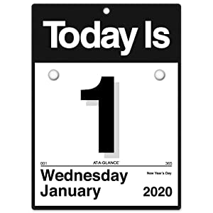 "AT-A-GLANCE 2020 Daily Wall Calendar Refill, 6"" x 6"", Mini, One Page Per Day,""Today is"" Design (K1-50)"