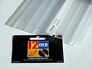 12 Inch Art Large Display Kit - Puts 8 or more Record Albums on the Wall, No Nails or Screws!