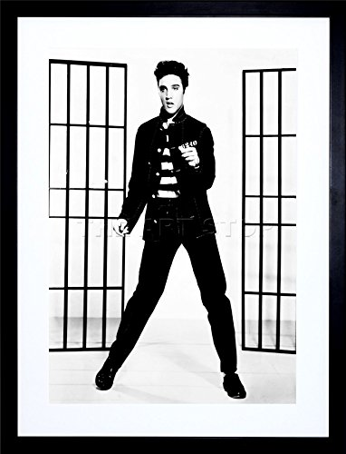 - 9x7 '' Music Photo Elvis Presley Jailhouse Rock King US Framed Art Print F97X596