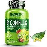 NATURELO B Complex - Whole Food - with Vitamin B6, Folate, B12, Biotin
