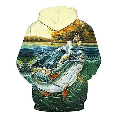 Grande Uomini Amanti Con Whlwy Codice Le Sweater 3d E Fishingb Go Per Sciolto Hooded Gli Felpa Cappuccio Digitale Stampa Donne PwqxRS8q