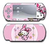 Hello Kitty Pink Easter Egg Bunny Video Game Vinyl Decal Skin Sticker Cover for Sony PSP Playstation Portable Slim 3000 Series System