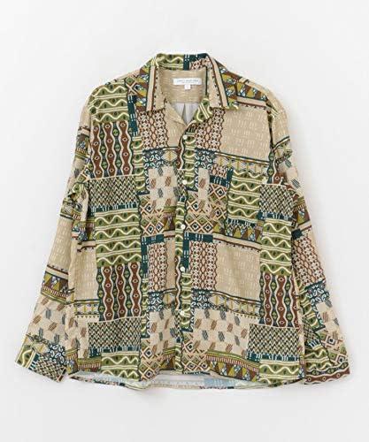 ワイシャツ パターンオープンカラーロングスリーブシャツ メンズ UR96-13M002