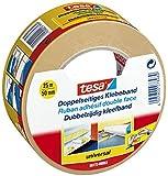 tesa doppelseitiges Klebeband für Teppich Verlegung sowie Bastel- und Dekorationsarbeiten, 25m x 50mm (6, 25m x 50mm)