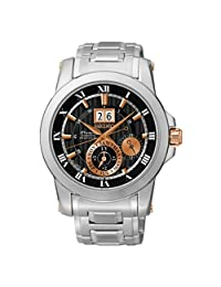 Seiko Mens PREMIER Kinetic Analog Business Kinetic Watch (Imported) SNP098P1