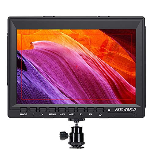FEELWORLD FW759 7 Inch DSLR Camera Field Monitor HD Video Assist Slim IPS 1280x800 4K HDMI 1080p with Sunshade