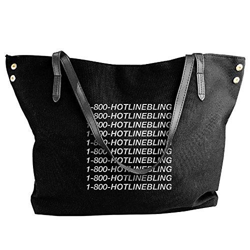 Women's 1 800 Hotline Bling Summer Purse Tote Shoulder Bag