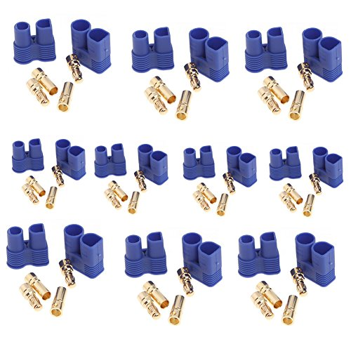 Domybest 10 Pairs EC3 Device Connector Plug for RC Car Plane Helicopter Multi-Copter