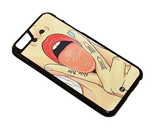 1888998165227 [Global Case] Sexy Girl Tongue Lick Fingers Art Sex Beautiful Girl Pretty Woman Suck Bite my lips Juicy Ass Boobs Bikini (BLACK CASE) Snap-on Cover Shell for Apple iPhone 5 / 5S