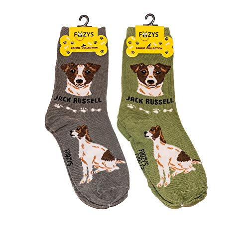 Foozys Unisex Crew Socks | Canine/Dog Collection | Jack Russell