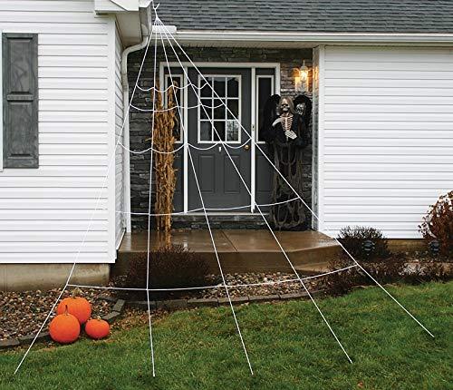 Fun World Super Spider Web Halloween Decoration White 2 in. W x 8-7/8 ft. L -