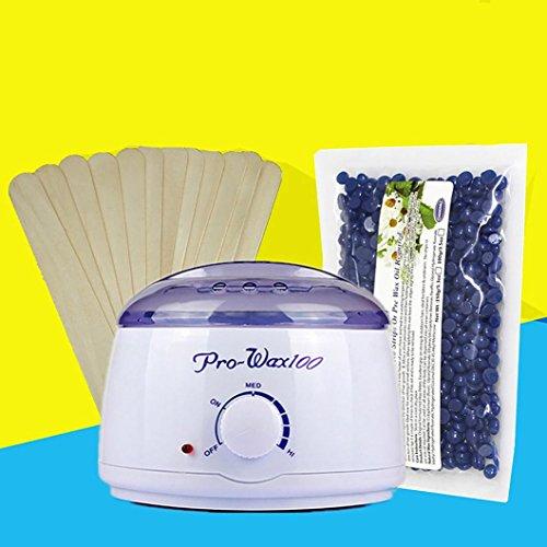 Vax Varmare Maskin Kit, Inkach Elektrisk Hårborttagning Böna Avtorkning Pinnar Varmt Vax Varmare Värmare Kruka Hårborttagnings Uppsättning
