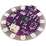 LilyPad Arduino - LilyPad Development Main Board Arduino USB ATmega32u4 (replaces/upgrade for the ATmega328P) - The silver dollar sized Arduino designed for e-textile and wearable projects!