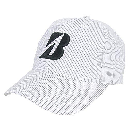 bridgestone-golf-pinstripe-adjustable-hat-white-black
