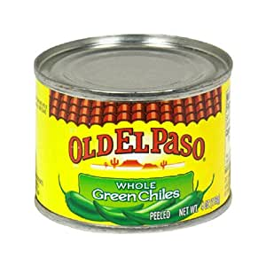 Old El Paso Chilies, Green Chili Pepper Whole, 4-Ounce Cans (Pack of 24)