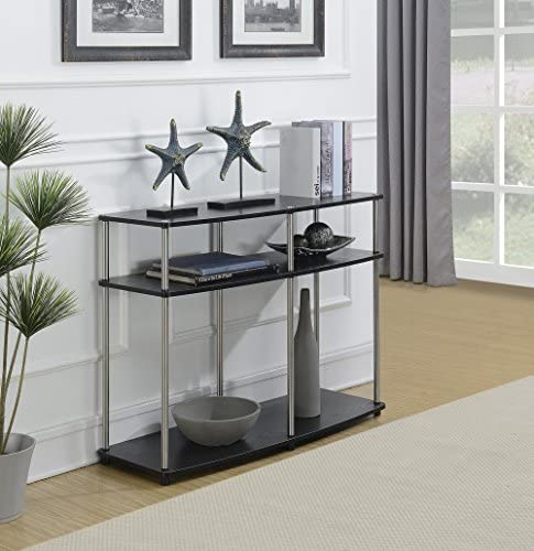 Convenience Concepts Console Table, Black Woodgrain