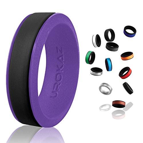 - UROKAZ - Silicone Wedding Ring, The Only Ring That Fits Your Lifestyle - Whether You are Single or Married, Ring is Right for You - It is Fashionable, Flexible, and Comfortable