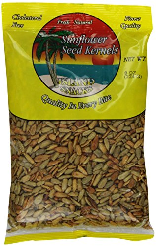 Island Snacks Sunflower Seeds Kernels, 8-Ounce (Pack of 6) (Snack Size Sunflower Seeds compare prices)
