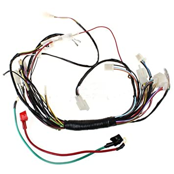 514ZTChkFGL._SY355_ amazon com main wire harness for 110 cc 125cc atvs quad 4 wheeler 6.5 Diesel Wiring Harness at crackthecode.co