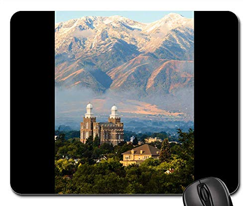 Mouse Pad - Architecture Travel Mountain Panoramic Sky Logan