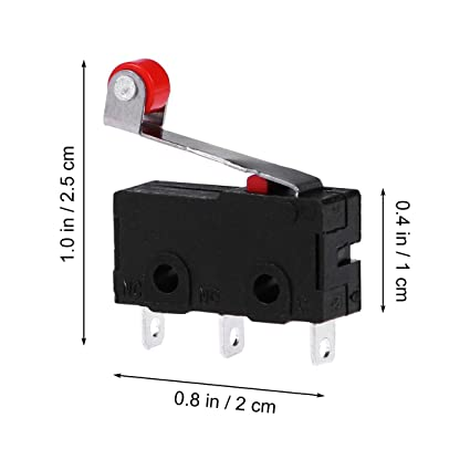 2 or 4pc Mini Micro Limit Switch Roller Lever Arm SPDT Snap Action 1NC 1NO 3 pin