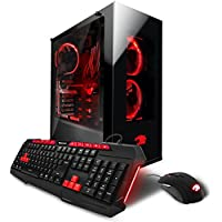 iBUYPOWER Gaming Computer Desktop PC AM003i Intel i7-7700K 4.2GHz, NVIDIA Geforce GTX 1080 8GB, 16GB DDR4 RAM, 2TB HDD, 240GB SSD, Liquid Cooled, WiFi, Win 10 Home, Black, VR Ready