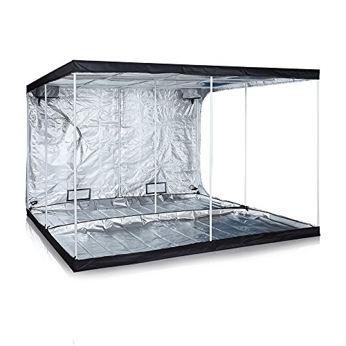 "TopoGrow Super Big 120""x120""x78"" Grow Tent 600D High-Reflective Hydroponic Grow Room/Hut System Kit for Plant Growing W/Plastic Corners"