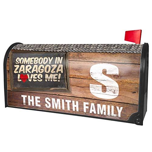 NEONBLOND Custom Mailbox Cover Somebody in Zaragoza Loves me, Spain]()