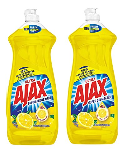 Ajax Dishwashing Liquid, Super Degreaser, Lemon, 28 Ounce, 2 Pack ()