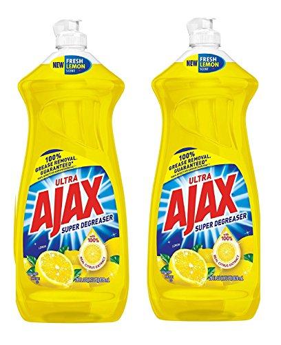 Ajax Dishwashing Liquid, Super Degreaser, Lemon, 28 Ounce, 2 Pack