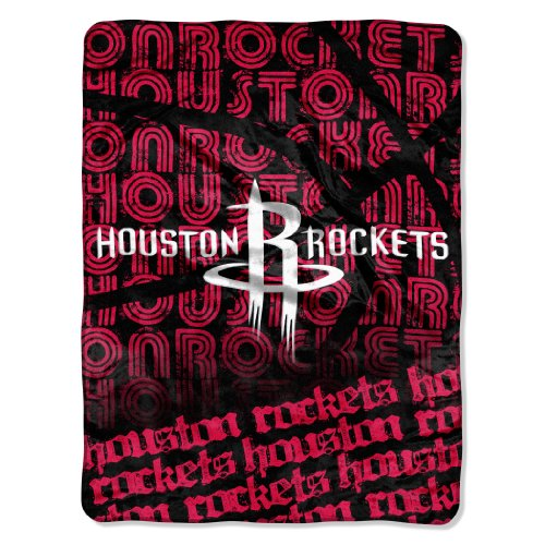 fan products of Officially Licensed NBA Houston Rockets Redux Micro Raschel Throw Blanket, 46