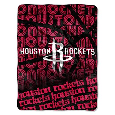 Officially Licensed NBA Houston Rockets Redux Micro Raschel Throw Blanket, 46  x 60