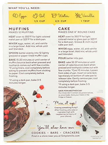 Simple Mills Almond Flour Baking Mix, Gluten Free Chocolate Cake Mix, Muffin pan ready, Made with whole foods, (Packaging May Vary), 11.2 Ounce (Pack of 1) 8