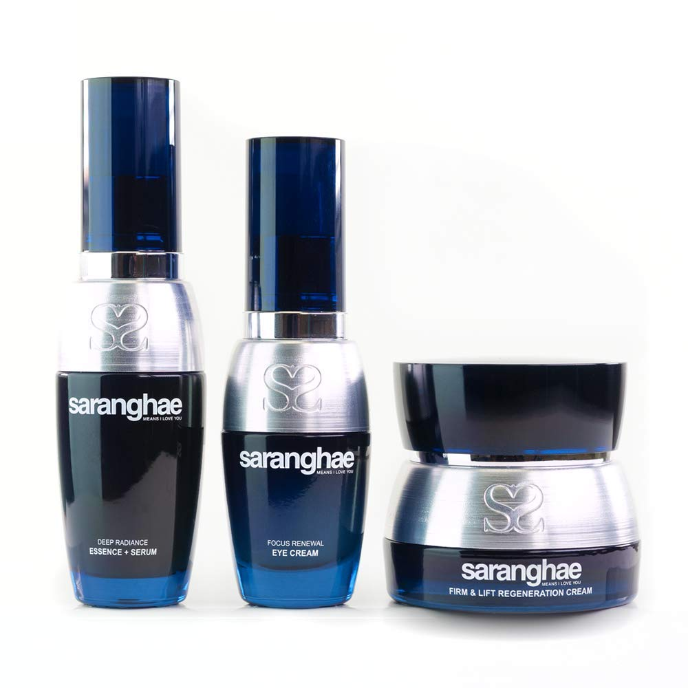 The Anti Aging Trio: Deep Radiance Essence + Serum, Firm and Lift Regeneration Cream, Focus Renewal Eye Cream - An Intense Focus On Healing And Repairing by S SARANGHAE MEANS I LOVE YOU