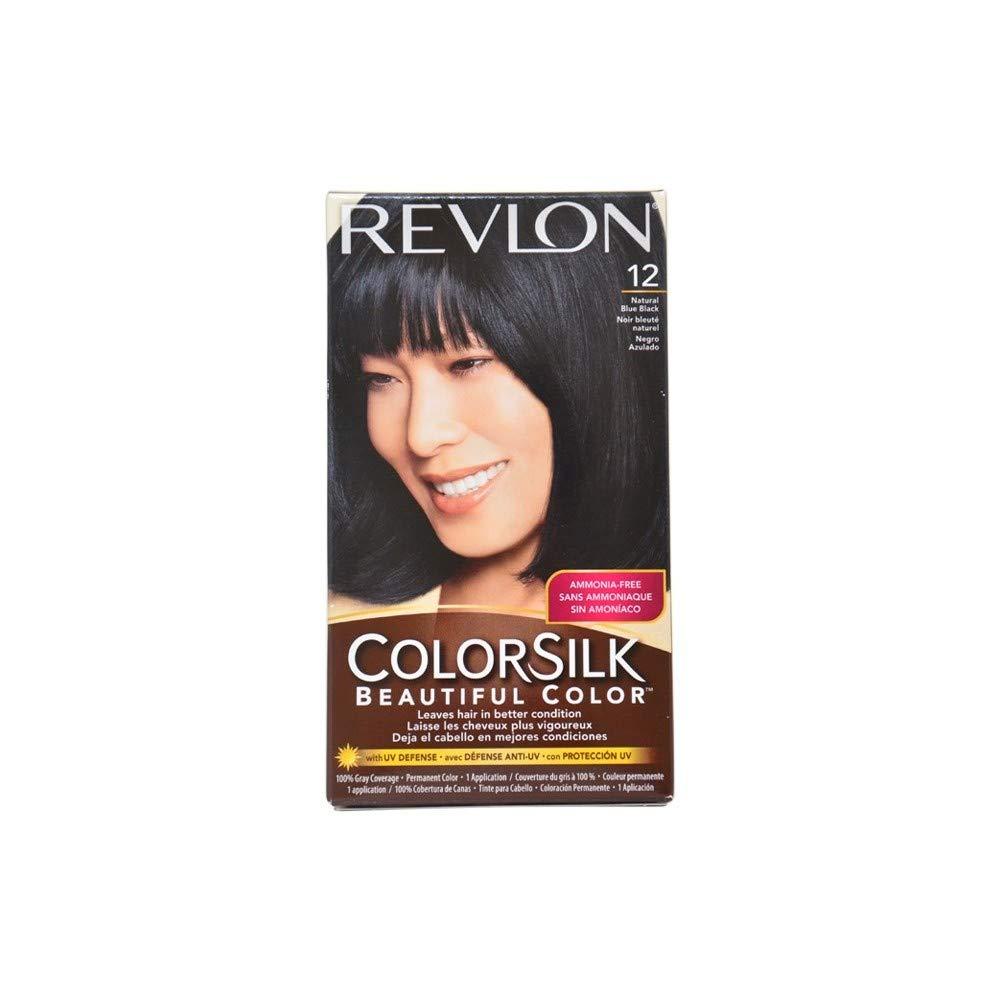 Revlon Colorsilk Beautiful Color, Natural Blue Black [12] 1 ea