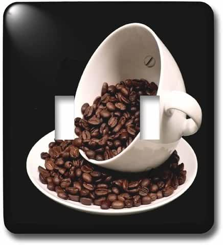 3dRose (lsp_213571_2) Photograph of a Coffee Cup Full of Coffee Beans Spilling Over Double Toggle Switch