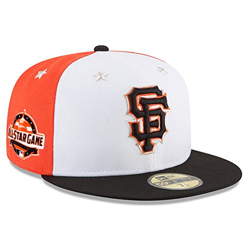 New Era San Francisco Giants 2018 MLB All-Star Game On-Field 59FIFTY Fitted Hat - White/Orange (7 3/8)