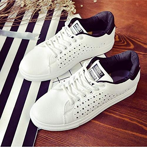 Sneakers PU Pink pie Heel Dedo del ZHZNVX Rosa Flat Poliuretano Comfort Cerrado Mujer Negro de Azul Primavera Zapatos del Verano qSH8ft