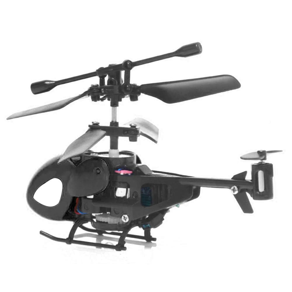 Jinjin Mini Rc Helicopter Radio Remote Control Aircraft Toy Gift Micro 3.5 Channel Lightweight and Super Tough Material Creative Rc Helicopter (Black) by Jinjin