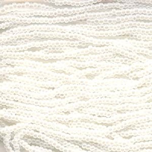 Genuine Jablonex Preciosa Czech Glass Seed Beads 11/0 Ceylon (Pearlized) - Mini Hanks White (Pearl Czech Seed Bead Hank)