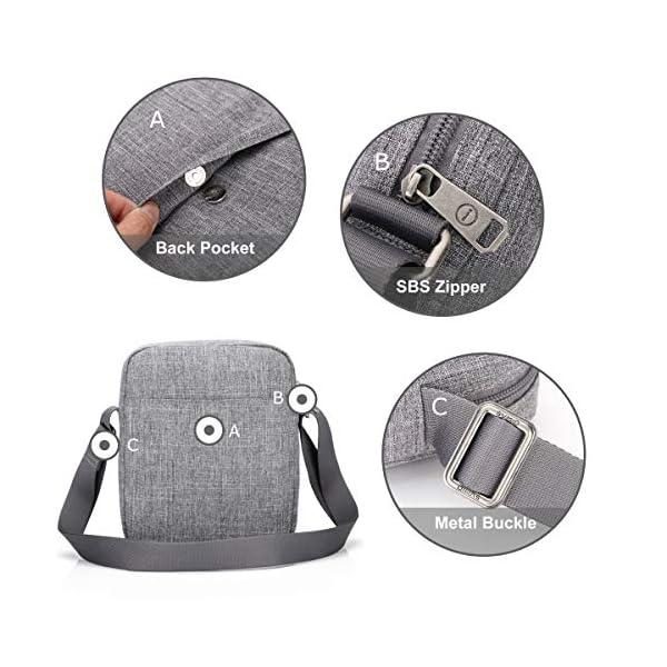 OIWAS Sac Homme Bandouliere Petite Sacoche Pochette Mini Cartable Besace pour Les Loisirs Vacances Excursion Marche…