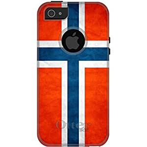 CUSTOM White OtterBox Commuter Series Case for Apple iPhone 5 / 5S - Norway Old Flag