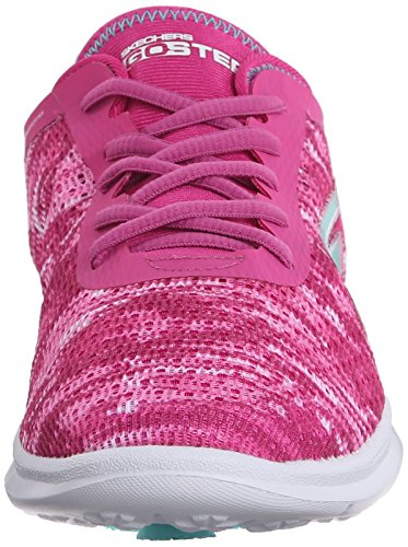 Skechers Performance Womens Go Step Scarpa Da Passeggio Stringata Rosa