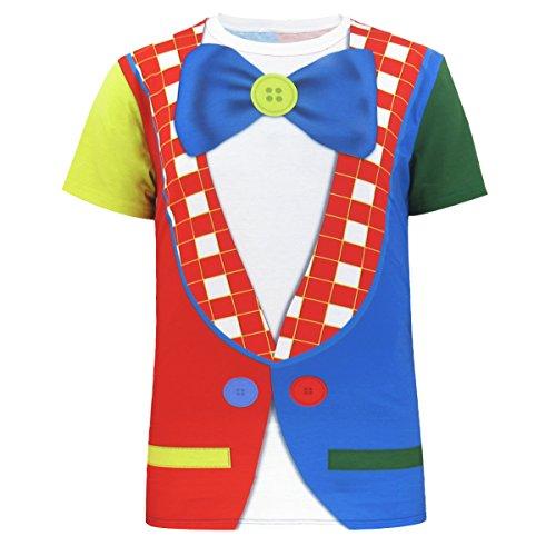 [Funny World Men's Clown Costume T-Shirts (XL, Clown)] (Amusement Clown Costume)