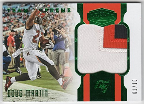 Doug Martin 2017 Panini Plates & Patches Team Supreme 3 Color Jersey Patch Serial #01/10 Tampa Bay Buccaneers