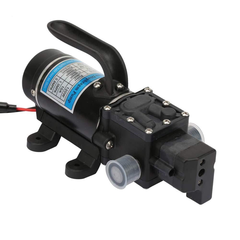 24V 120W 10L m pour laveuse /à Haute Pression Qinlorgo Pompe /à diaphragme /à amor/çage Automatique de la Pompe /à Eau /électrique 12V 12V