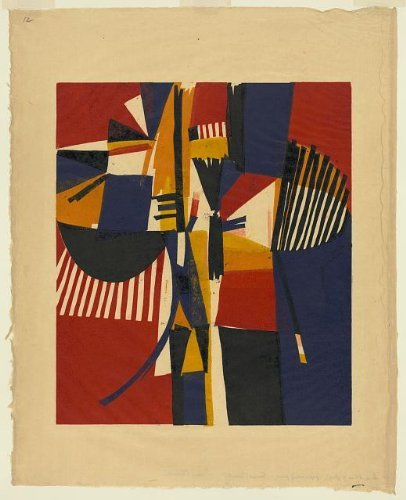 Photo: In a blaze of glory,abstract prints,art,relief,Edmond Casarella,1959 by Infinite Photographs